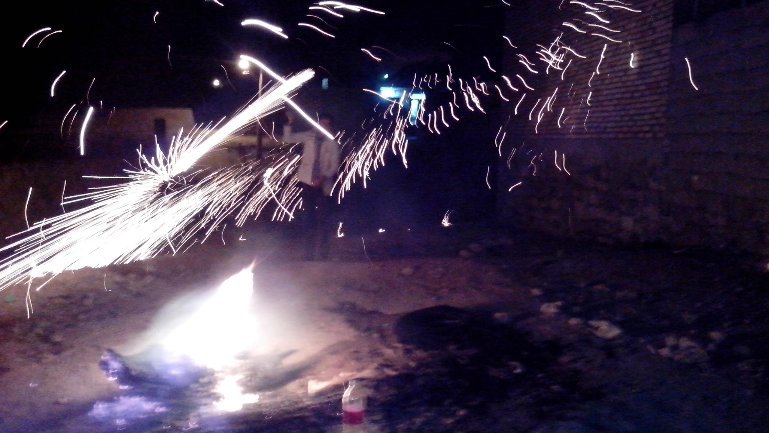 عکس از شادی چهارشنبه سوری